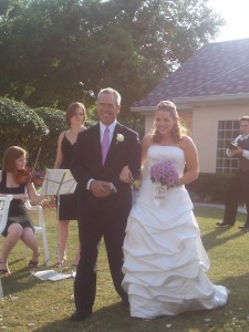 Proud papa of the bride