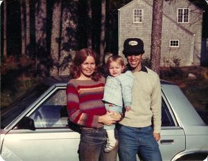 Baby Katy with skinny mom and dad